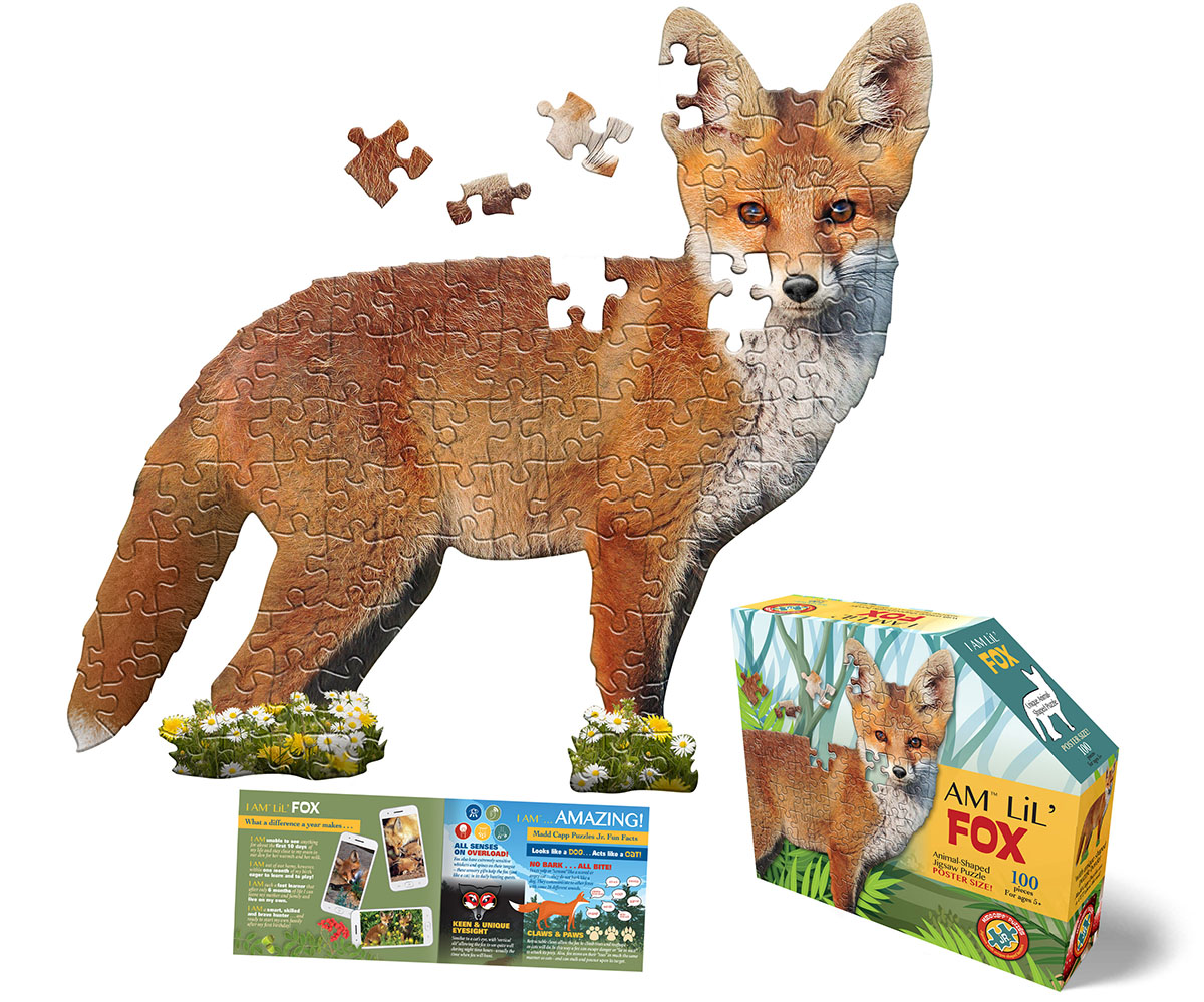I Am Lil' Fox Wildlife Shaped Puzzle