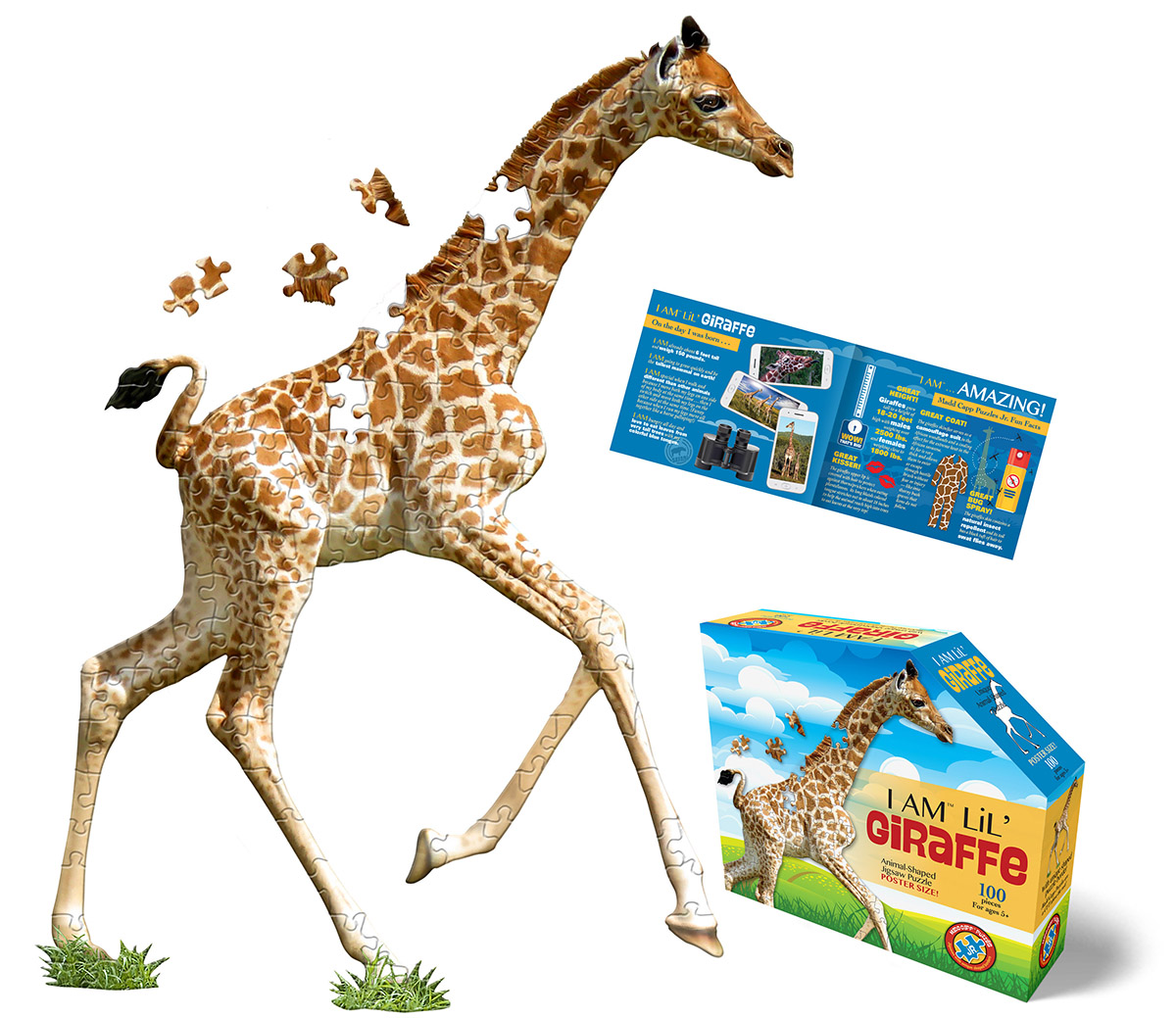 I Am Lil' Giraffe Animals Shaped Puzzle