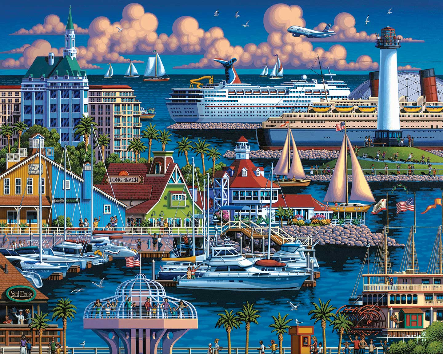 Long Beach Beach Jigsaw Puzzle
