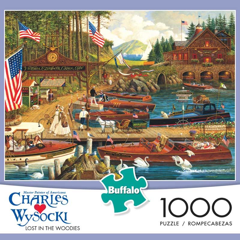 Lost in the Woodies - Scratch and Dent Boats Jigsaw Puzzle