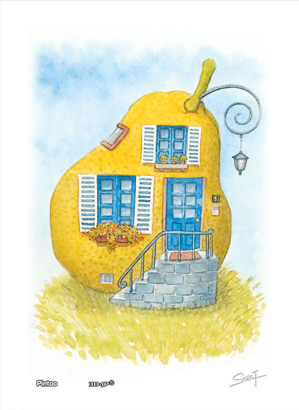 Tyro SMART - Vegefruit House - Avocado House Food and Drink Jigsaw Puzzle