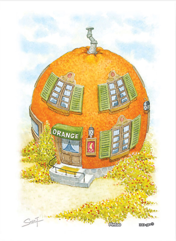 Tyro SMART - Vegefruit House - Orange House Food and Drink Jigsaw Puzzle