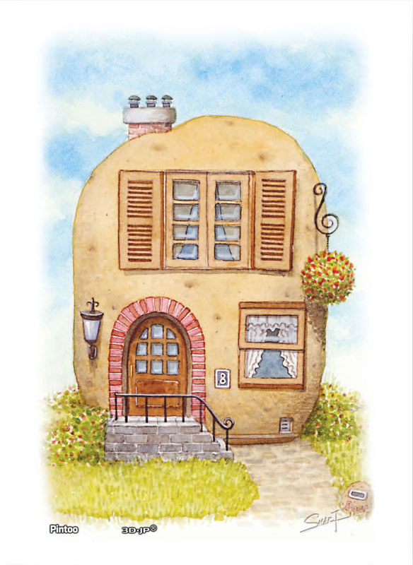 Tyro SMART - Vegefruit House - Potato House Food and Drink Jigsaw Puzzle