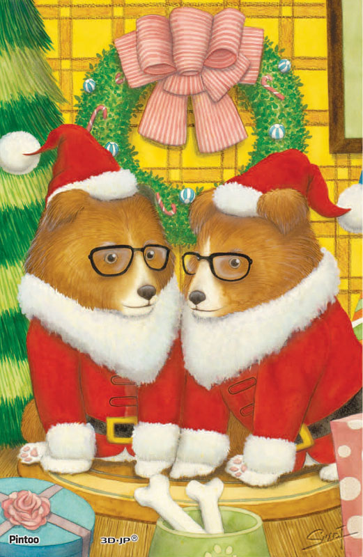 Tyro SMART - Dog 12 Santa Jigsaw Puzzle