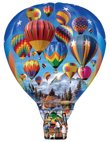 Hot Air Balloon Ride - Scratch and Dent Balloons Shaped Puzzle