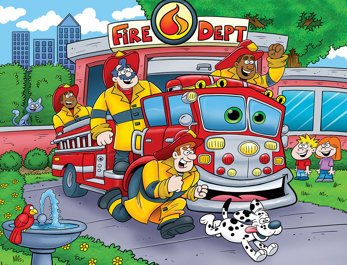 Fire Truck Vehicles Jigsaw Puzzle