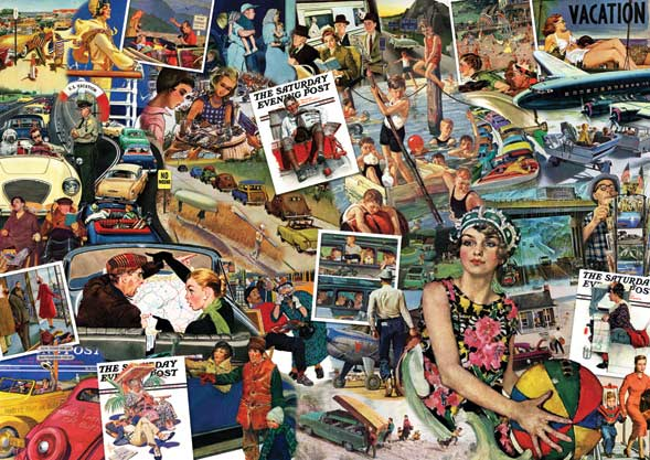 Saturday Evening Post - Going Places Americana Jigsaw Puzzle