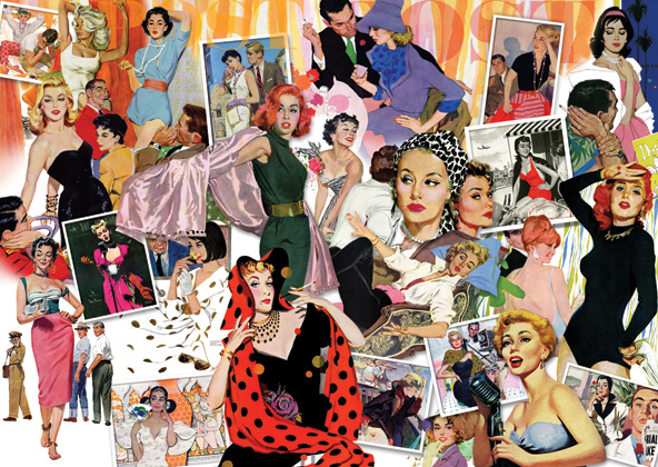 Saturday Evening Post - Leading Ladies Americana Jigsaw Puzzle