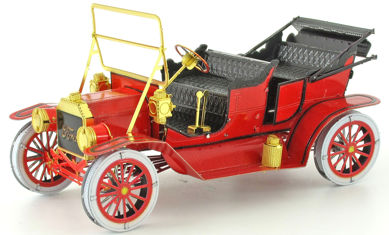 1908 Ford Model T Vehicle Red Vehicles Metal Puzzles