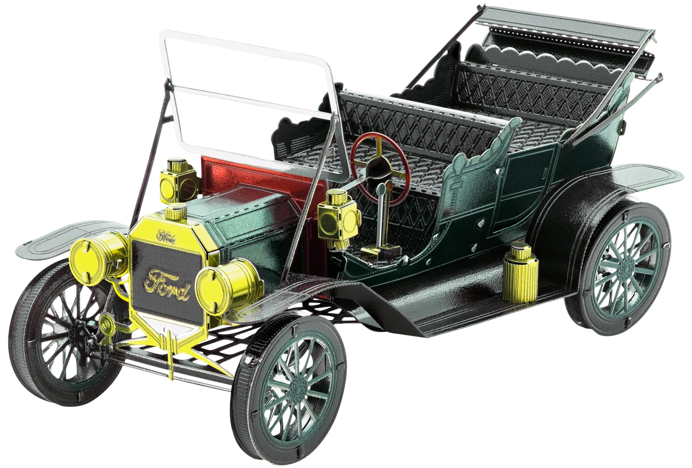 1908 Ford Model T Vehicle Dark Green Vehicles Metal Puzzles