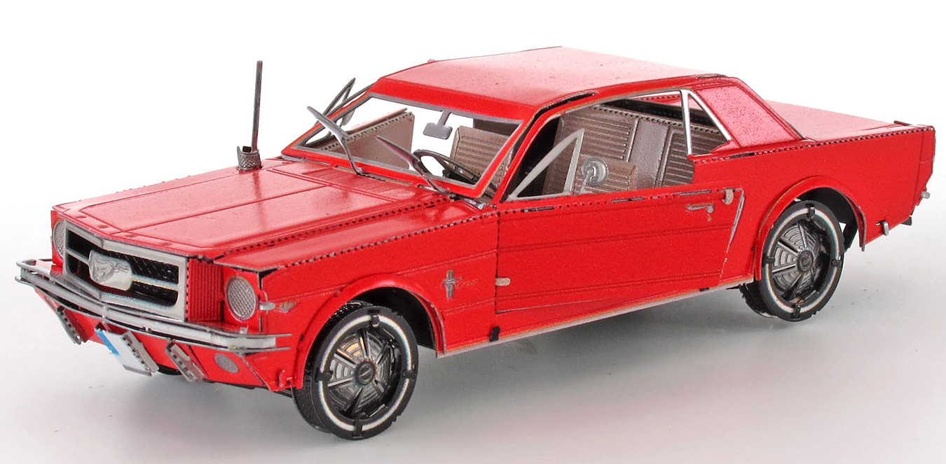Ford 1965 Mustang Coupe 'Red Version' Vehicles Metal Puzzles