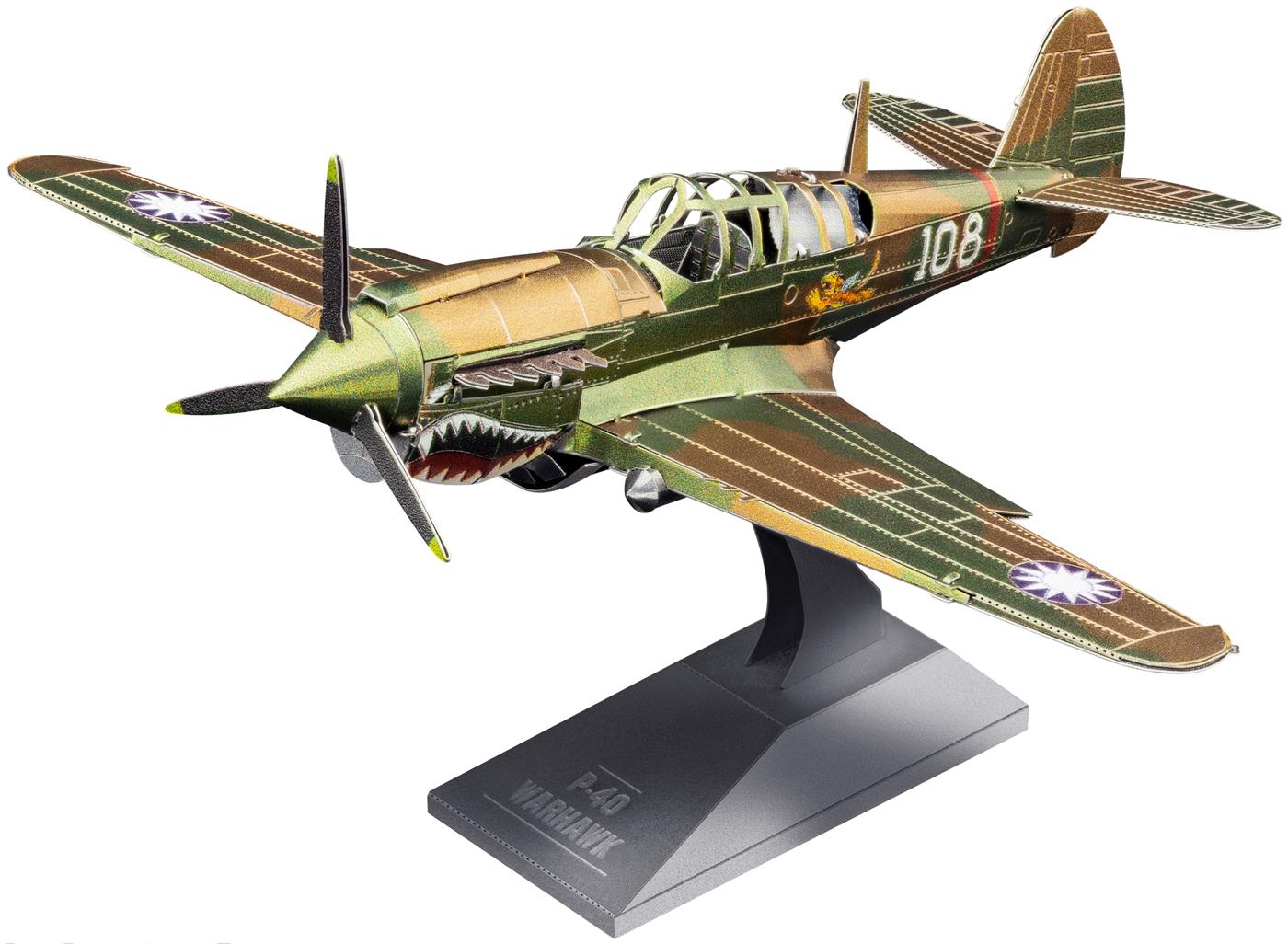 P-40 Warhawk Planes Metal Puzzles