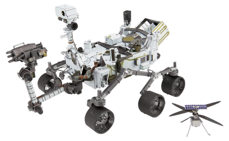 Mars Rover Perseverance & Ingenuity Helicopter Space Metal Puzzles