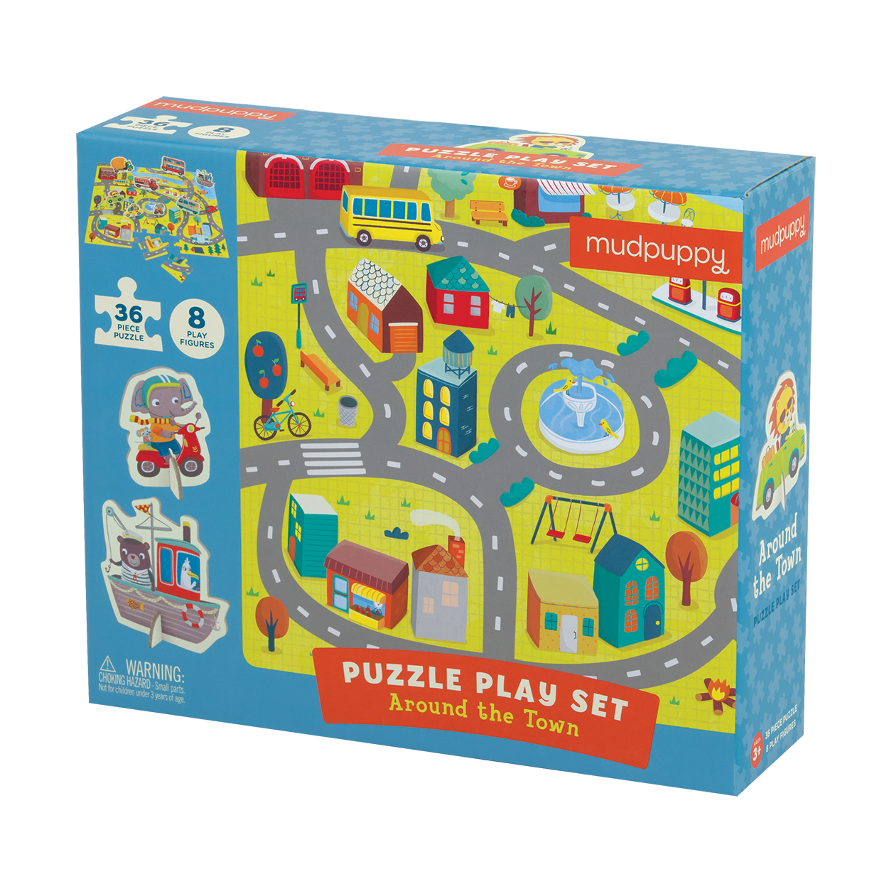 Around the Town Puzzle Play Set - Scratch and Dent Vehicles Jigsaw Puzzle