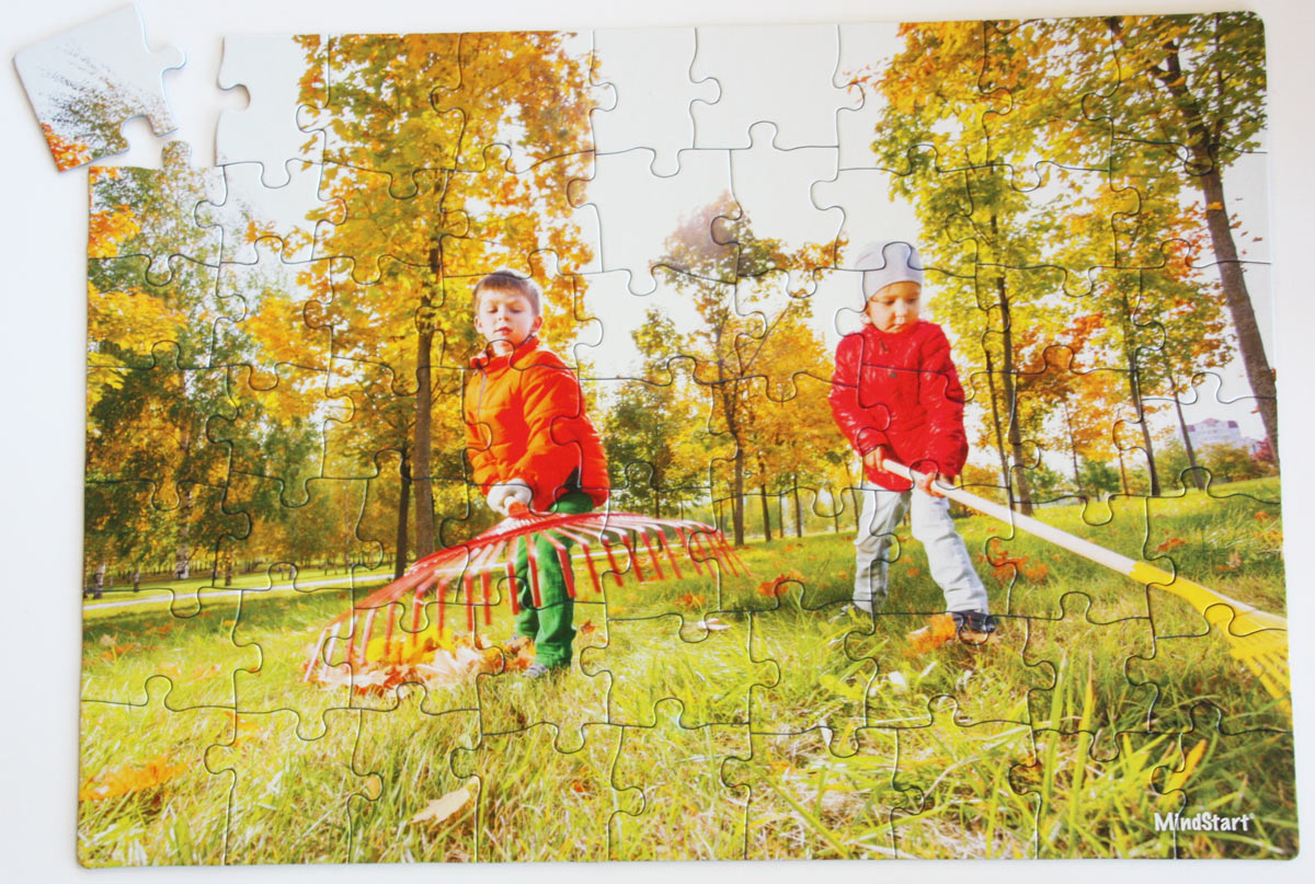 Raking People Jigsaw Puzzle