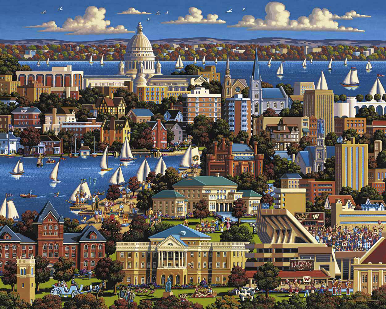 Madison, WI United States Jigsaw Puzzle