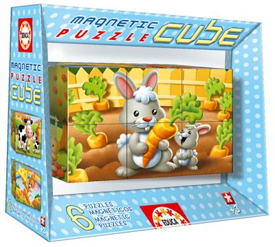 Magnetic Puzzle Cube - Animals (6 cubes) Other Animals Jigsaw Puzzle