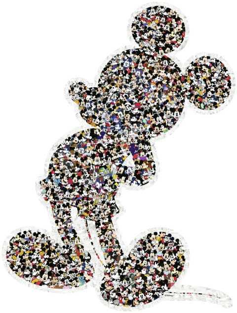 Mickey Disney Shaped Puzzle