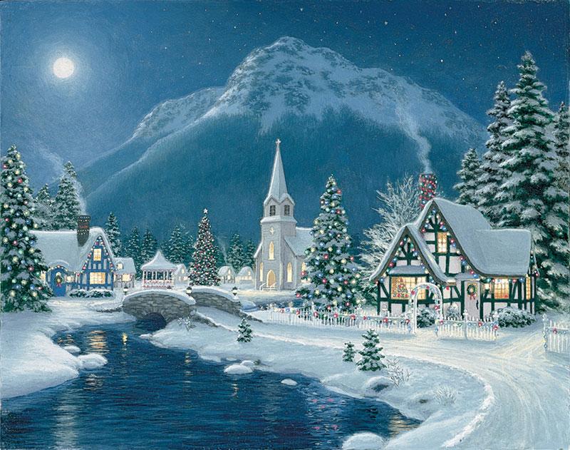 Moonlit Village - 1500pc Christmas Jigsaw Puzzle