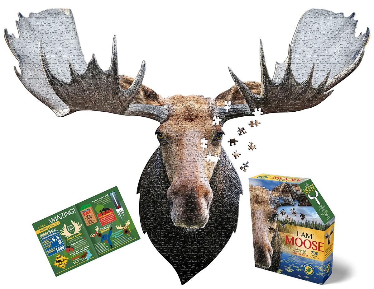 I Am Moose Wildlife Shaped Puzzle