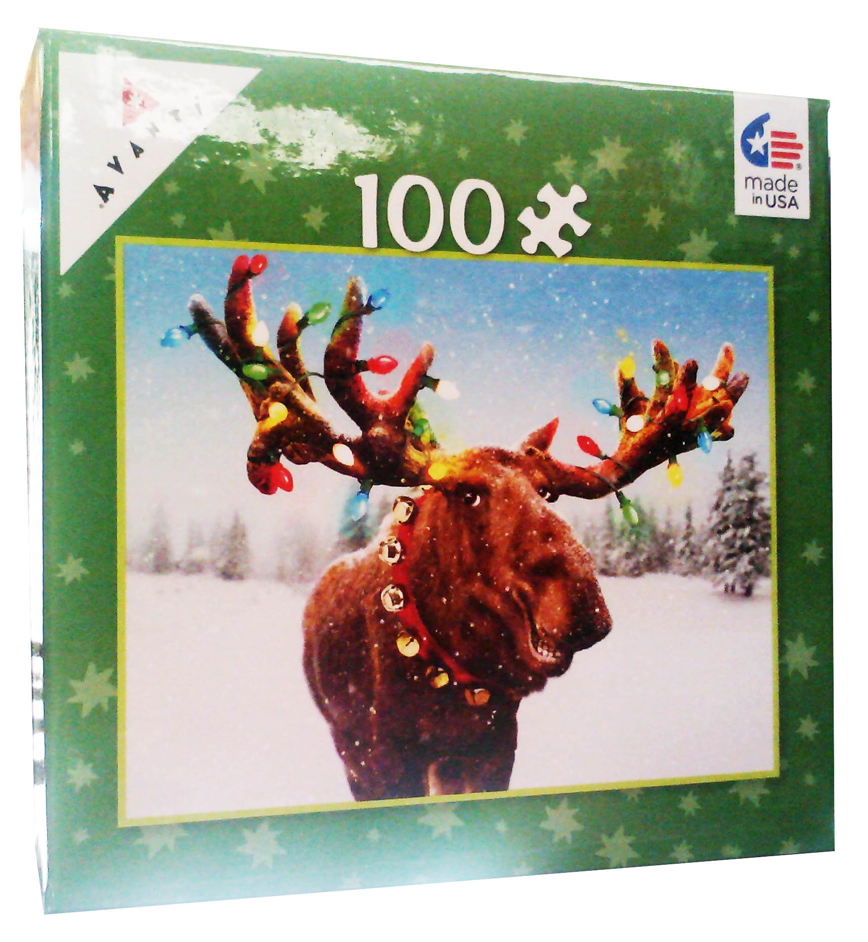 Mini Pet Puzzles Christmas - Moose Christmas Jigsaw Puzzle