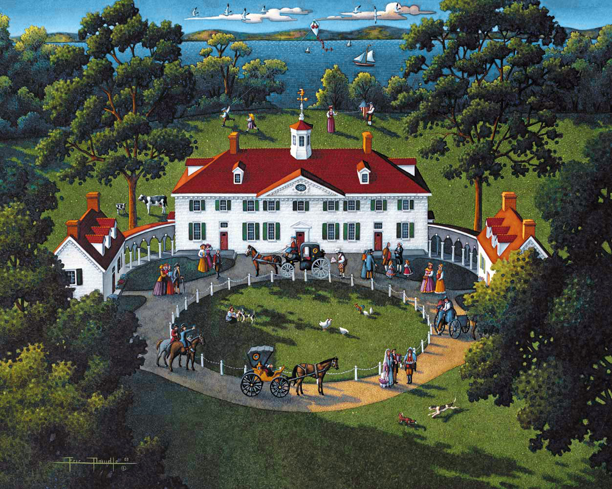 Mount Vernon Landmarks / Monuments Jigsaw Puzzle