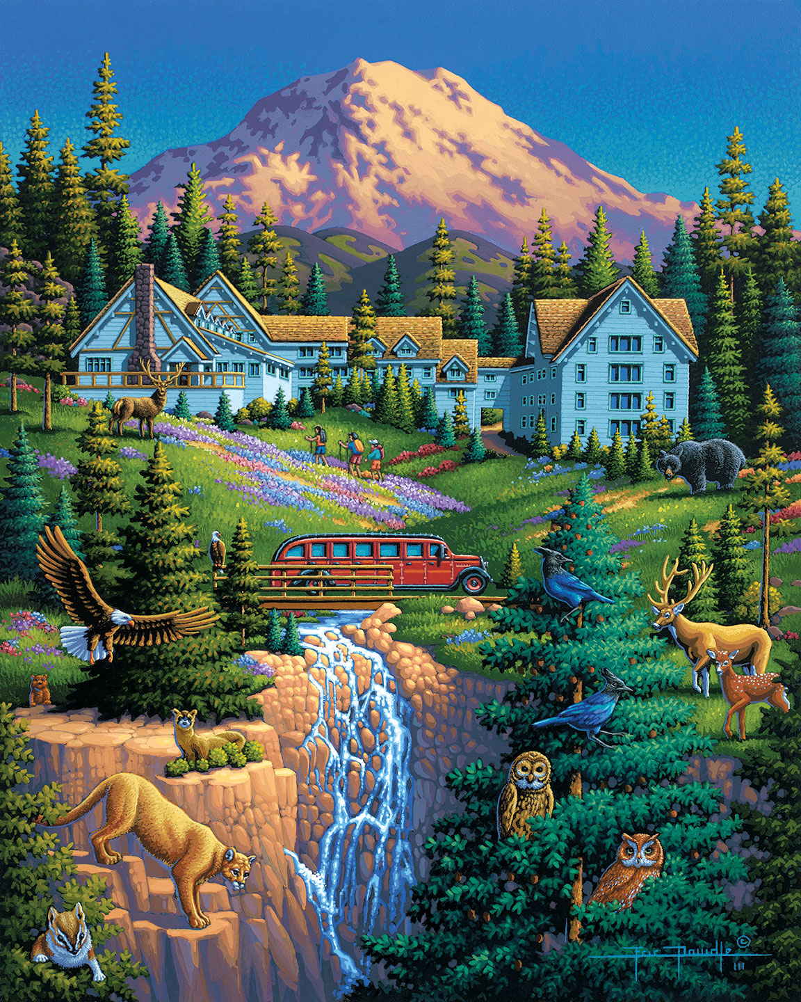 Mount Ranier National Park Mountains Jigsaw Puzzle