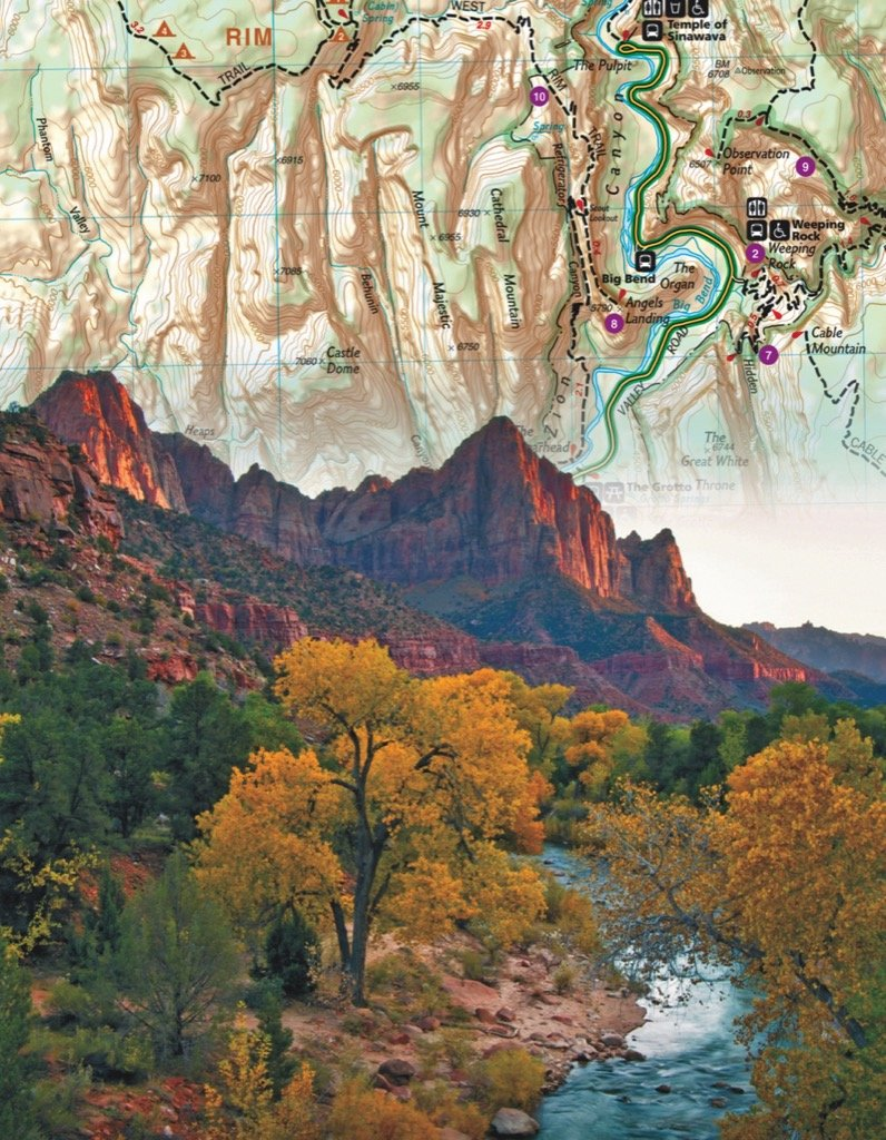 Zion National Park Mini Maps / Geography Jigsaw Puzzle