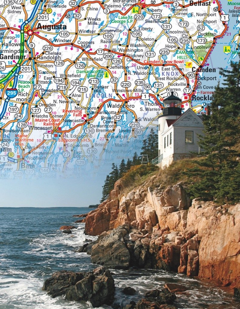 Maine State Map (Mini) Maps / Geography Jigsaw Puzzle