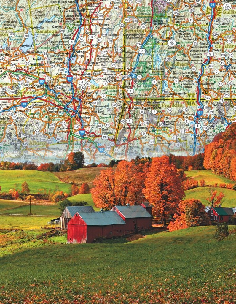 Northeast US Map Maps / Geography Jigsaw Puzzle