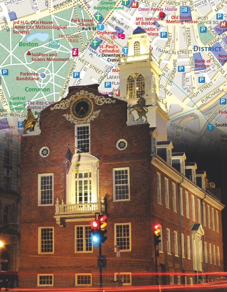 Boston City Map (Mini) Maps / Geography Jigsaw Puzzle
