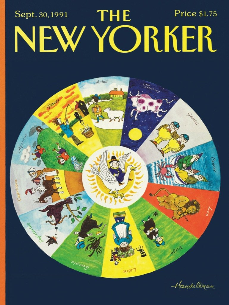 Mother Goose Zodiac Magazines and Newspapers Jigsaw Puzzle