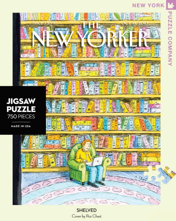 Shelved (The New Yorker) Nostalgic / Retro Jigsaw Puzzle