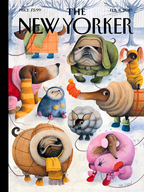 Baby It's Cold Outside (The New Yorker) - Scratch and Dent Dogs Jigsaw Puzzle
