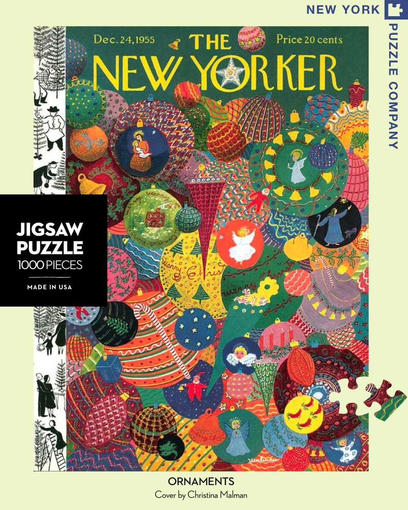 New York Puzzle Company New Yorker Tree Shopping 1000 Piece Jigsaw Puzzle