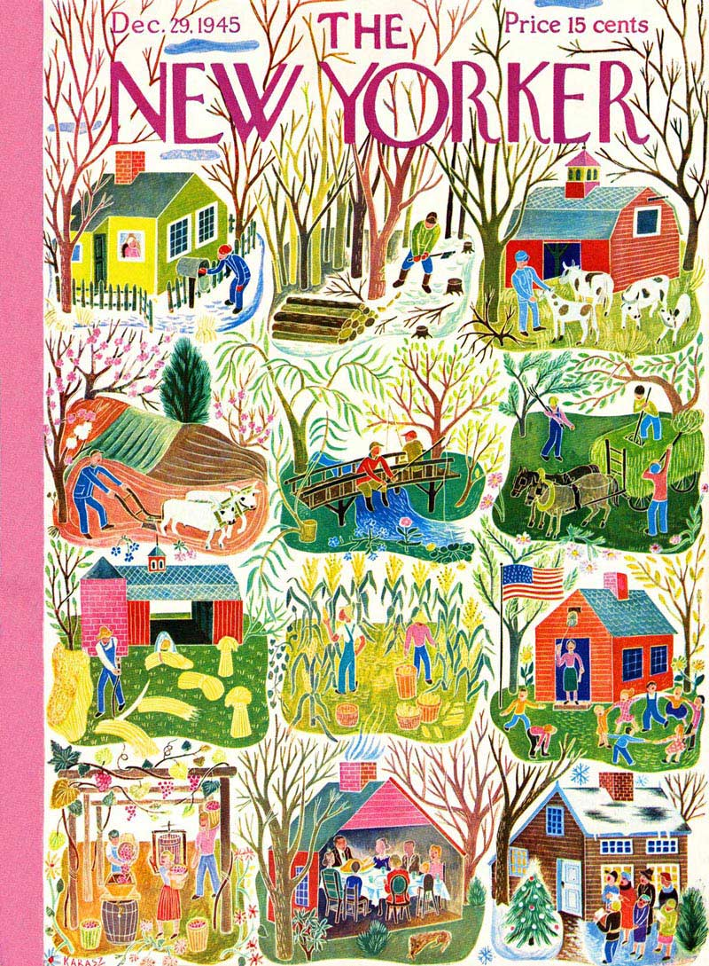 Farm Calendar (The New Yorker) Nostalgic / Retro Jigsaw Puzzle