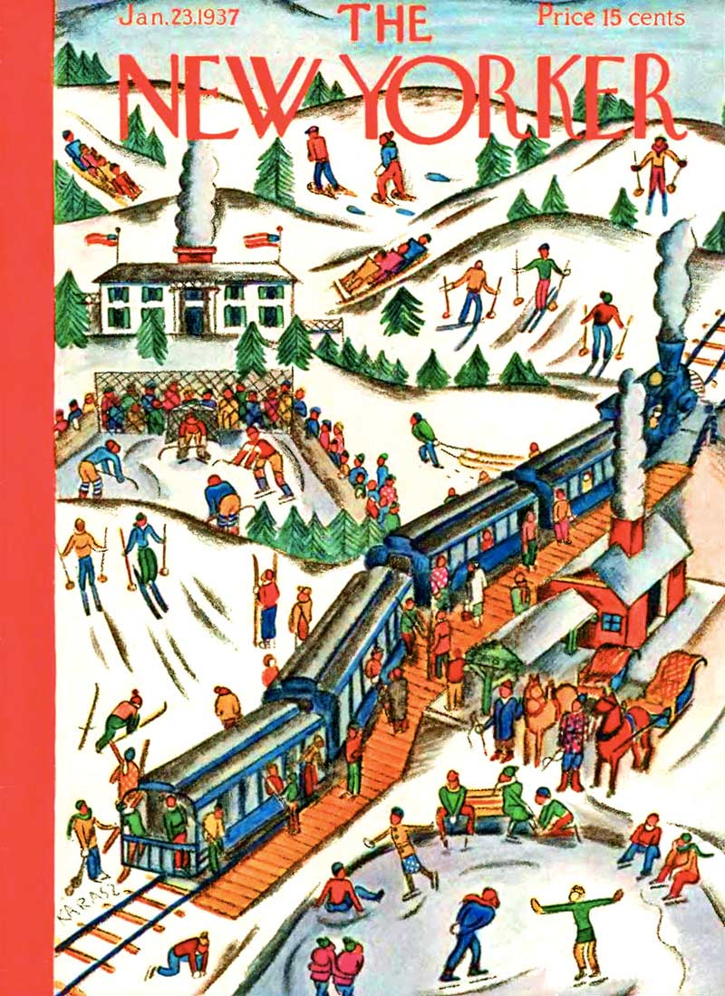 Winter Weekend (The New Yorker) Winter Jigsaw Puzzle