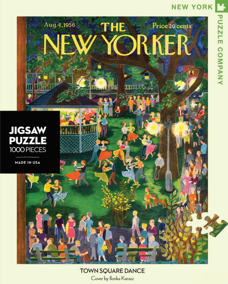 Town Square Dance (The New Yorker) Nostalgic / Retro Jigsaw Puzzle