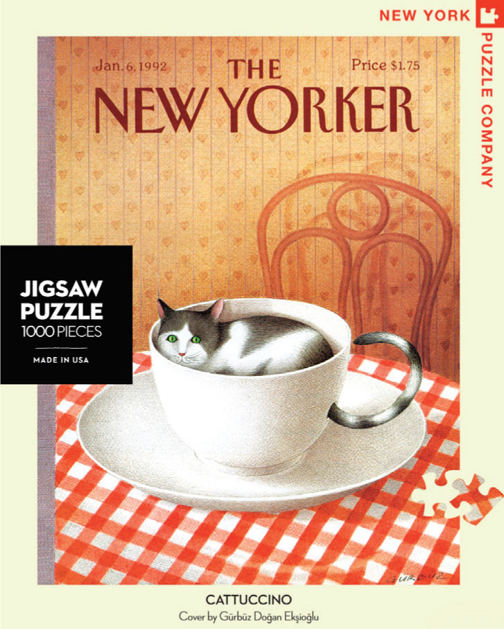 Cattuccino (The New Yorker) - Scratch and Dent Magazines and Newspapers Jigsaw Puzzle