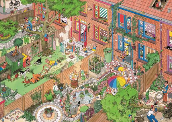 Neighbors - 252 XXL Cartoons Jigsaw Puzzle