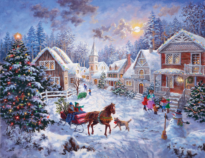 Night Before Christmas Christmas Jigsaw Puzzle