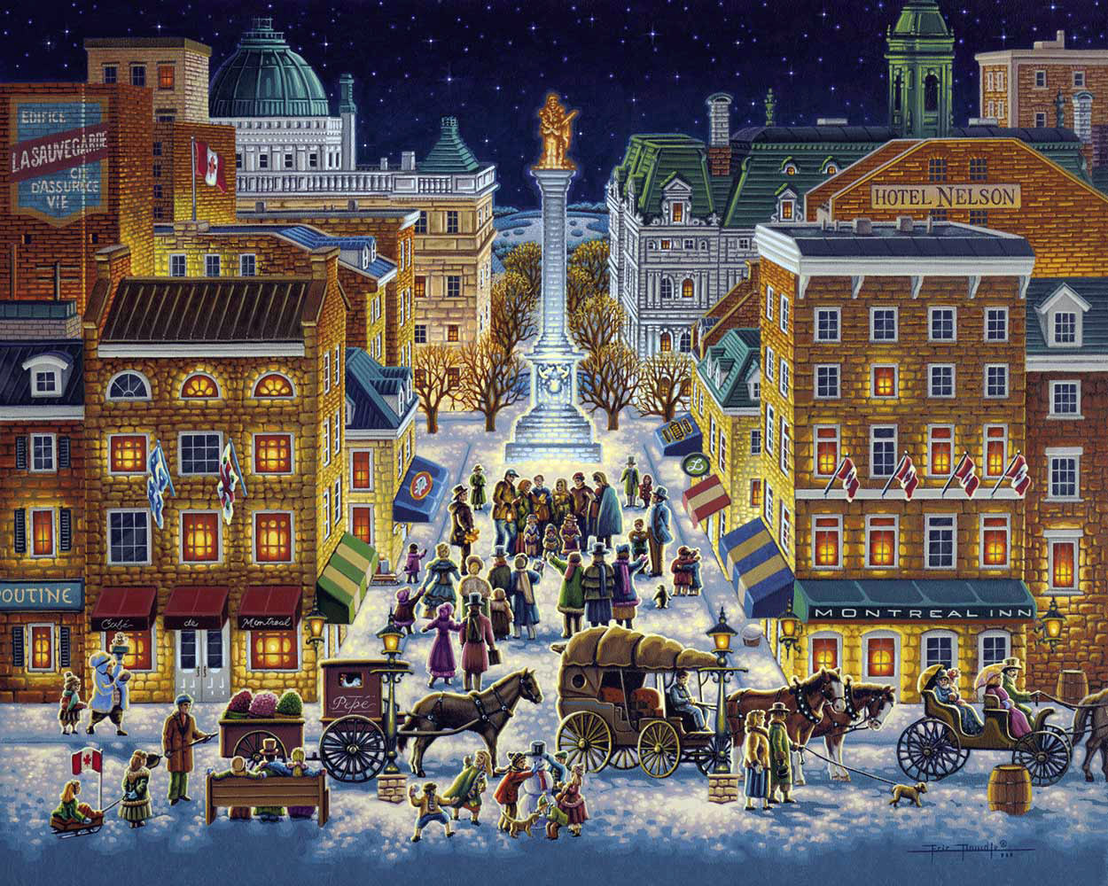 Old Montreal Americana & Folk Art Jigsaw Puzzle