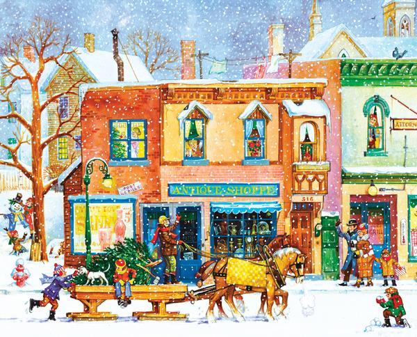 Old Time Holiday Christmas Jigsaw Puzzle