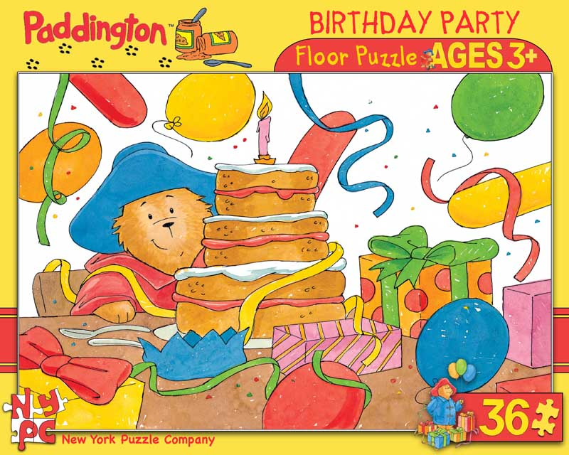 Paddington Birthday Party - Floor Cartoons Floor Puzzle