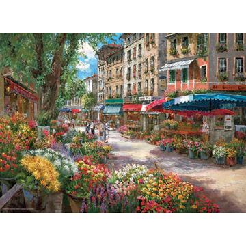 Paris Flower Market - Scratch and Dent Street Scene Jigsaw Puzzle