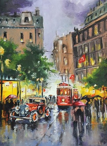 Istiklal Street Istanbul Street Scene Jigsaw Puzzle