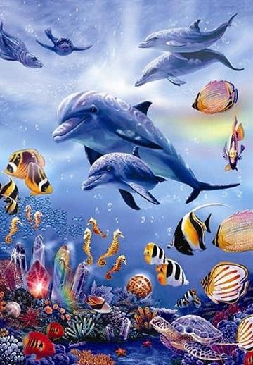 Seahorse Kingdom Under The Sea Jigsaw Puzzle