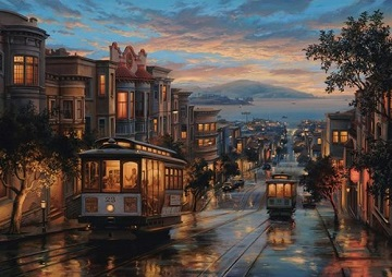 Cable Car Heaven Street Scene Jigsaw Puzzle