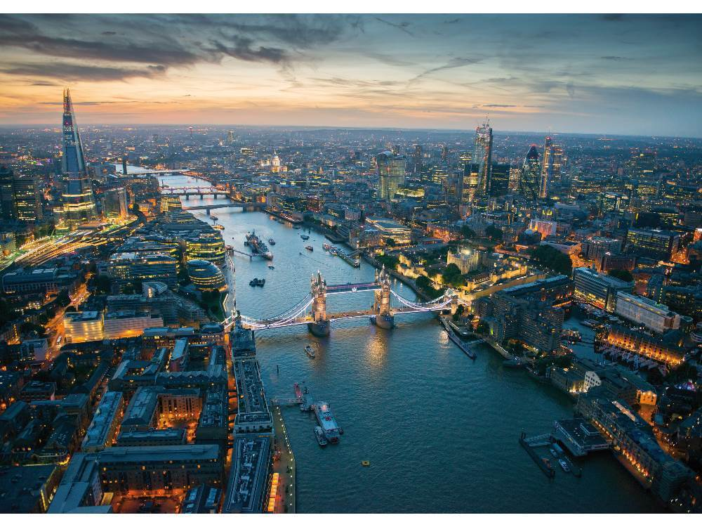 London at Night Skyline / Cityscape Jigsaw Puzzle