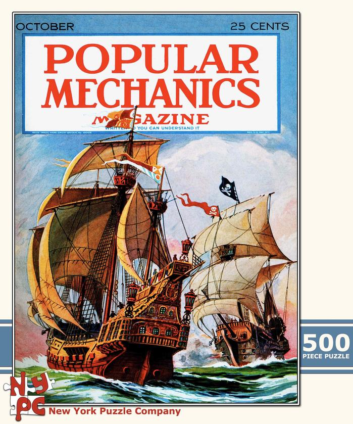Popular Mechanics - Pirate Battle Boats Jigsaw Puzzle
